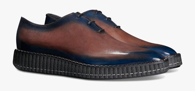 Alessandro Demesure小牛皮牛津鞋, BURNT BLUE, hi-res