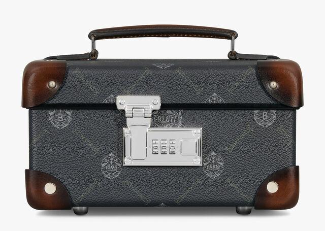 Globe-Trotter 帆布镶皮革旅行腕表盒, BLACK + TDM INTENSO, hi-res