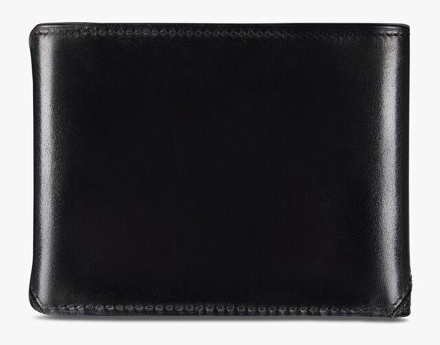 有鳄鱼皮装饰的Essentiel 皮革钱包, DEEP TDM & BLACK, hi-res