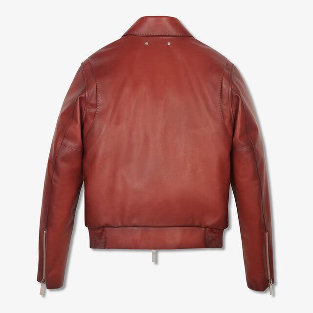 转色皮革外套, SIMAL RED, hi-res