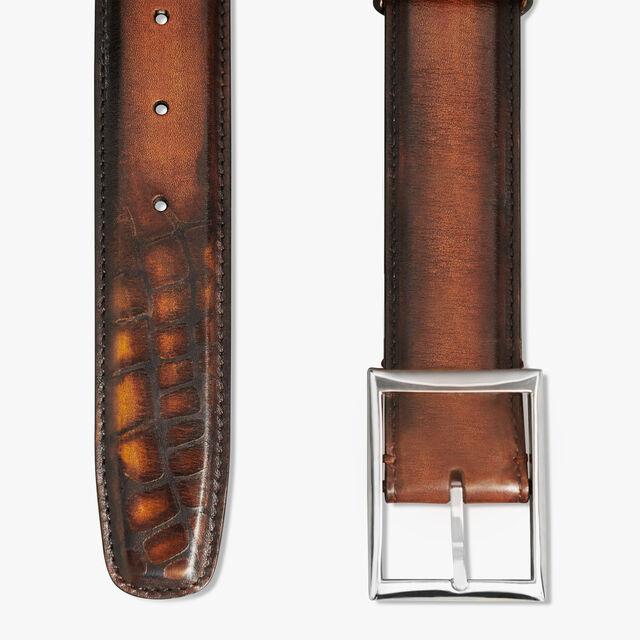 Classique Patina Illusion皮革皮带-35毫米, TOBACCO BIS, hi-res