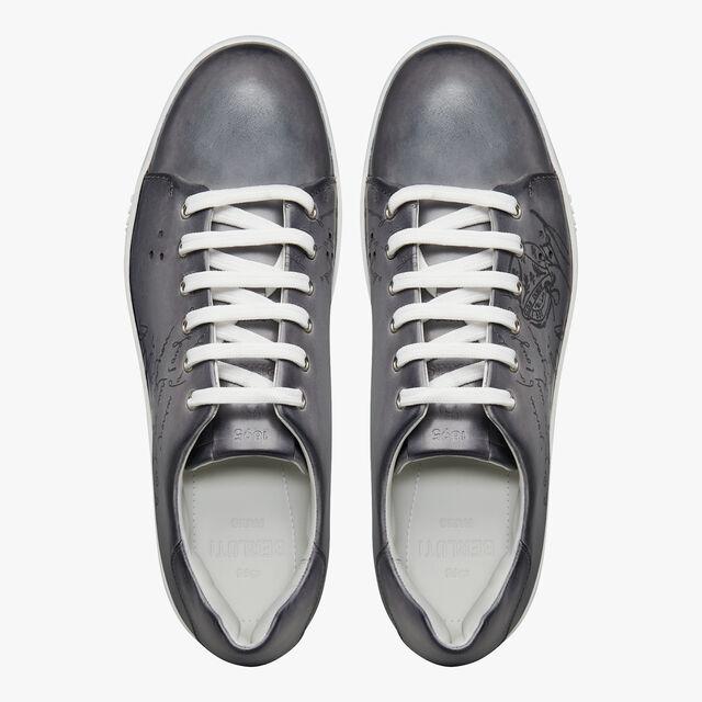 Playtime Scritto图纹皮革运动鞋, LIGHT ALUMINIO, hi-res
