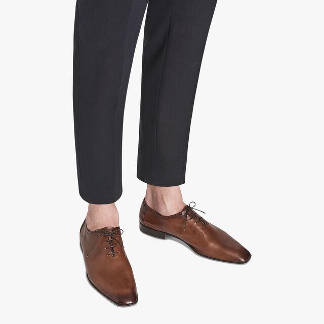 Lorenzo Rimini袋鼠皮革牛津鞋, TABACCO, hi-res
