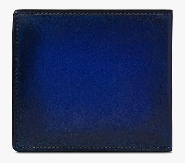 Makoré Scritto图纹皮革钱包, UTOPIA BLUE, hi-res