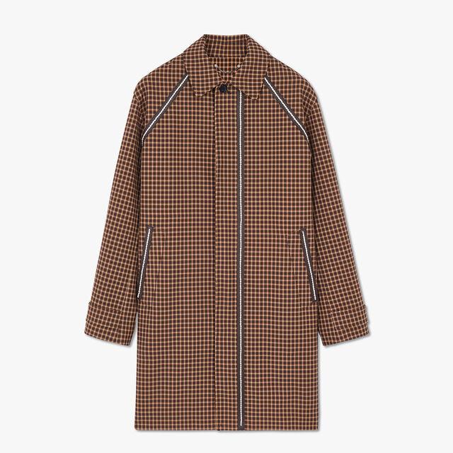 有皮革装饰的短款外套, MIDDLE BROWN, hi-res