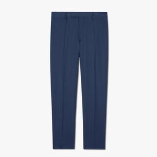 标准剪裁羊毛长裤