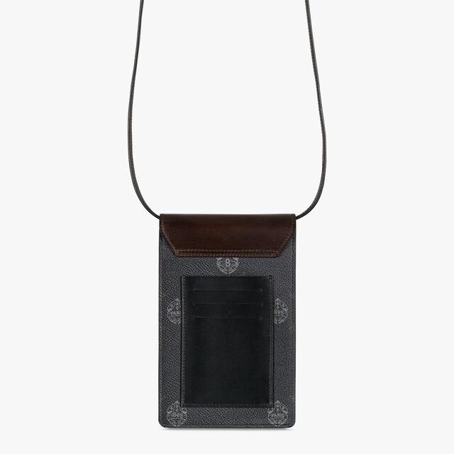 Traveler 帆布镶皮革手机包, BLACK + TDM INTENSO, hi-res