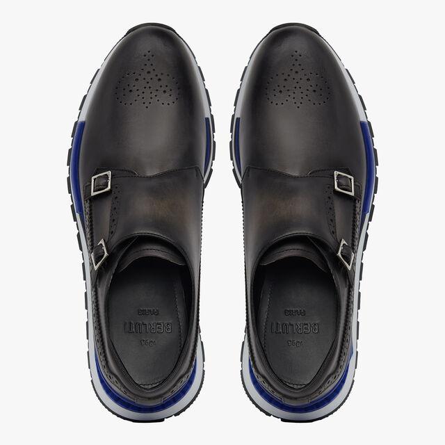 Fast Track皮革双扣僧侣运动鞋, NERO GRIGIO, hi-res