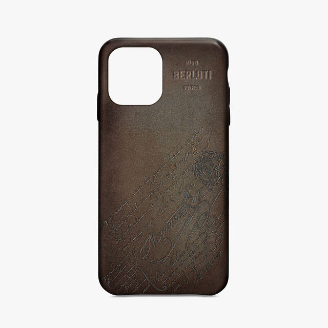 Iphone 手机壳 Scritto 皮革盒, ICE BROWN, hi-res