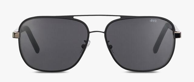 """Shine 正方形""""飞行员""""金属与醋酸纤维太阳眼镜, BLACK, hi-res"""