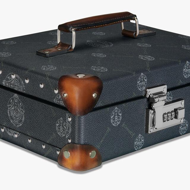 Globe-Trotter 帆布镶皮革鞋具护理套装, BLACK + TDM INTENSO, hi-res