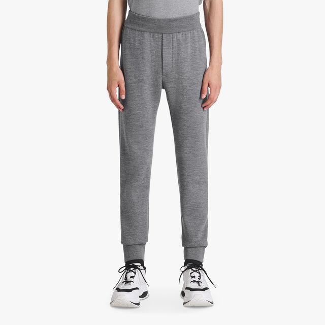 有Scritto衬里的轻质羊毛裤, PEWTER GREY, hi-res