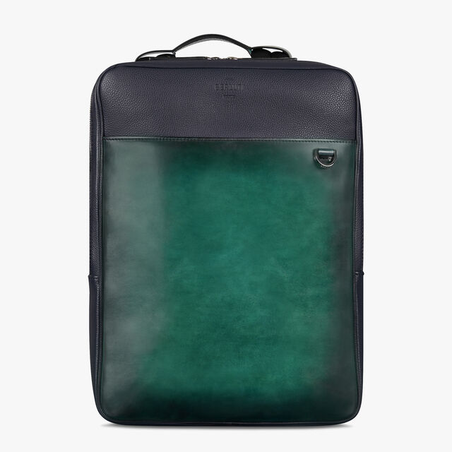 Contraste 皮革背包, PETROL GREEN, hi-res