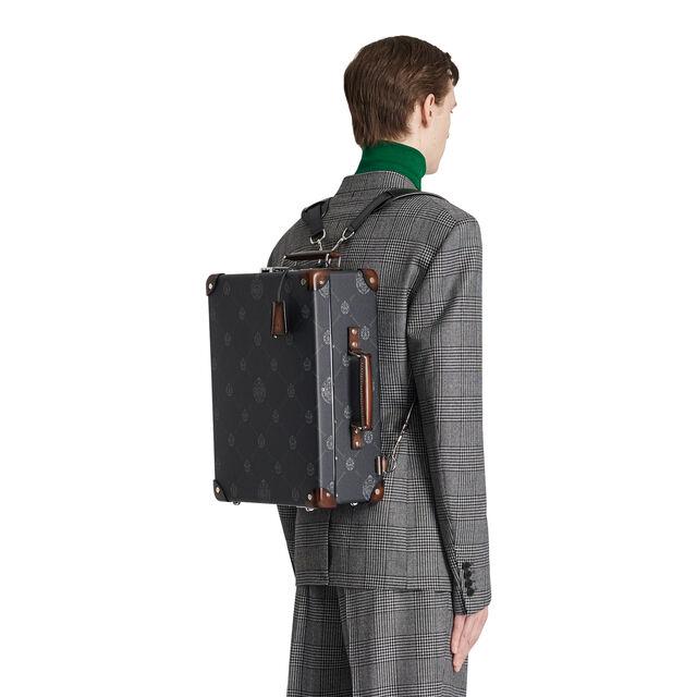 帆布与皮革旅行双肩背包, BLACK + TDM INTENSO, hi-res